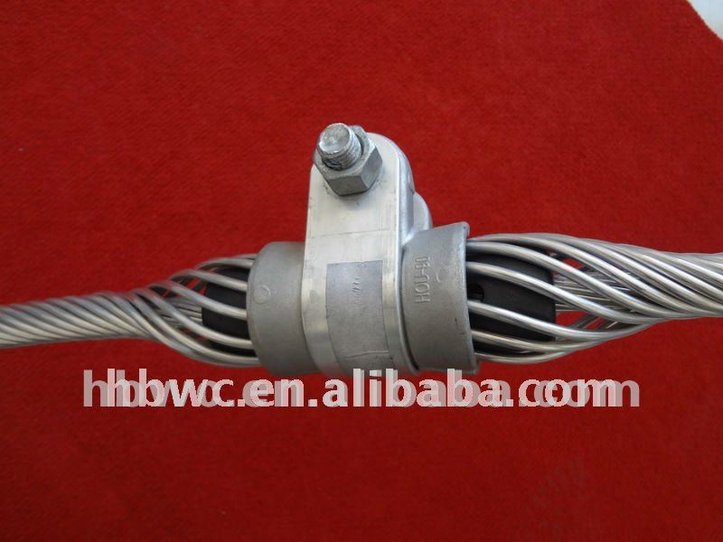 Aluminum Anchoring cable Clamp for power hardware