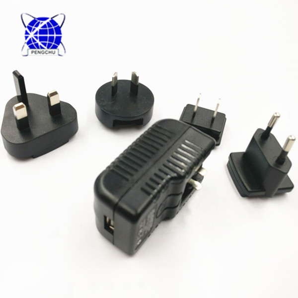 Hot sale Interchangeable USB wall mount charger 5V 2A power adapter