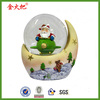 polyresin Christmas decoration snow globe with Santa Claus for sale