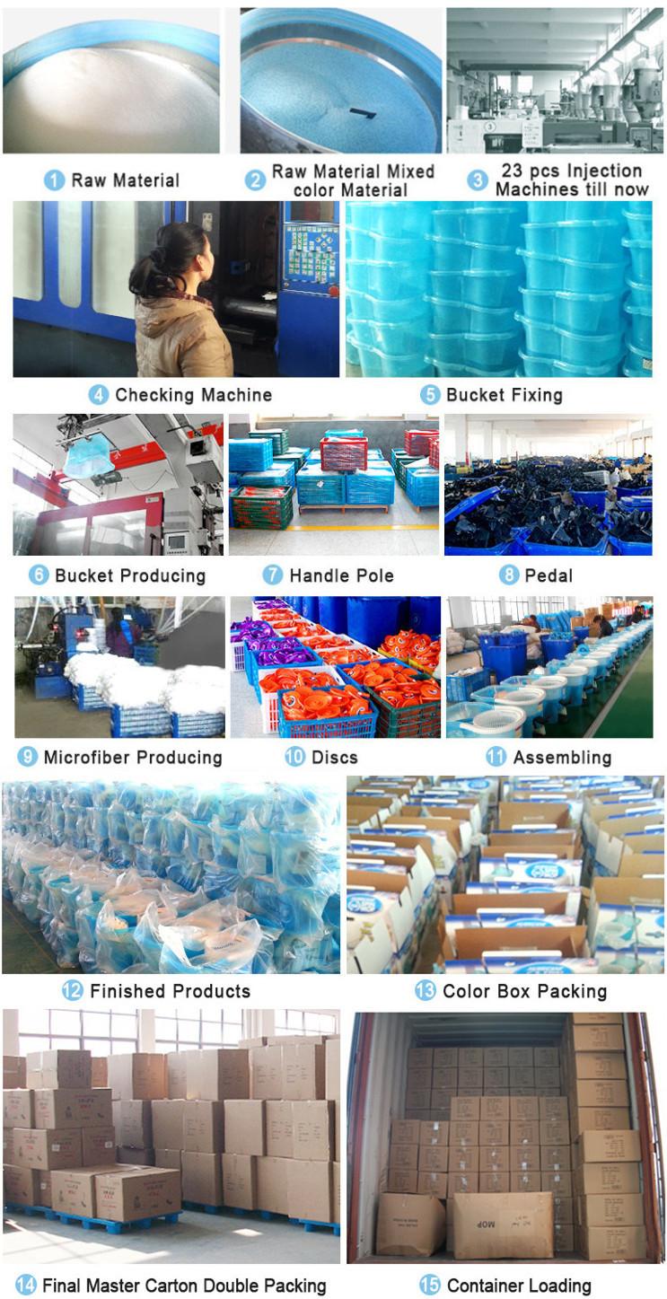 Orange pedal mop bucket SS pole floor clean product microfiber mop head hot household 360 twist mop China online shopping7.jpg