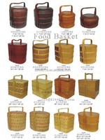 High-end 3 tier wicker basket for food with lid