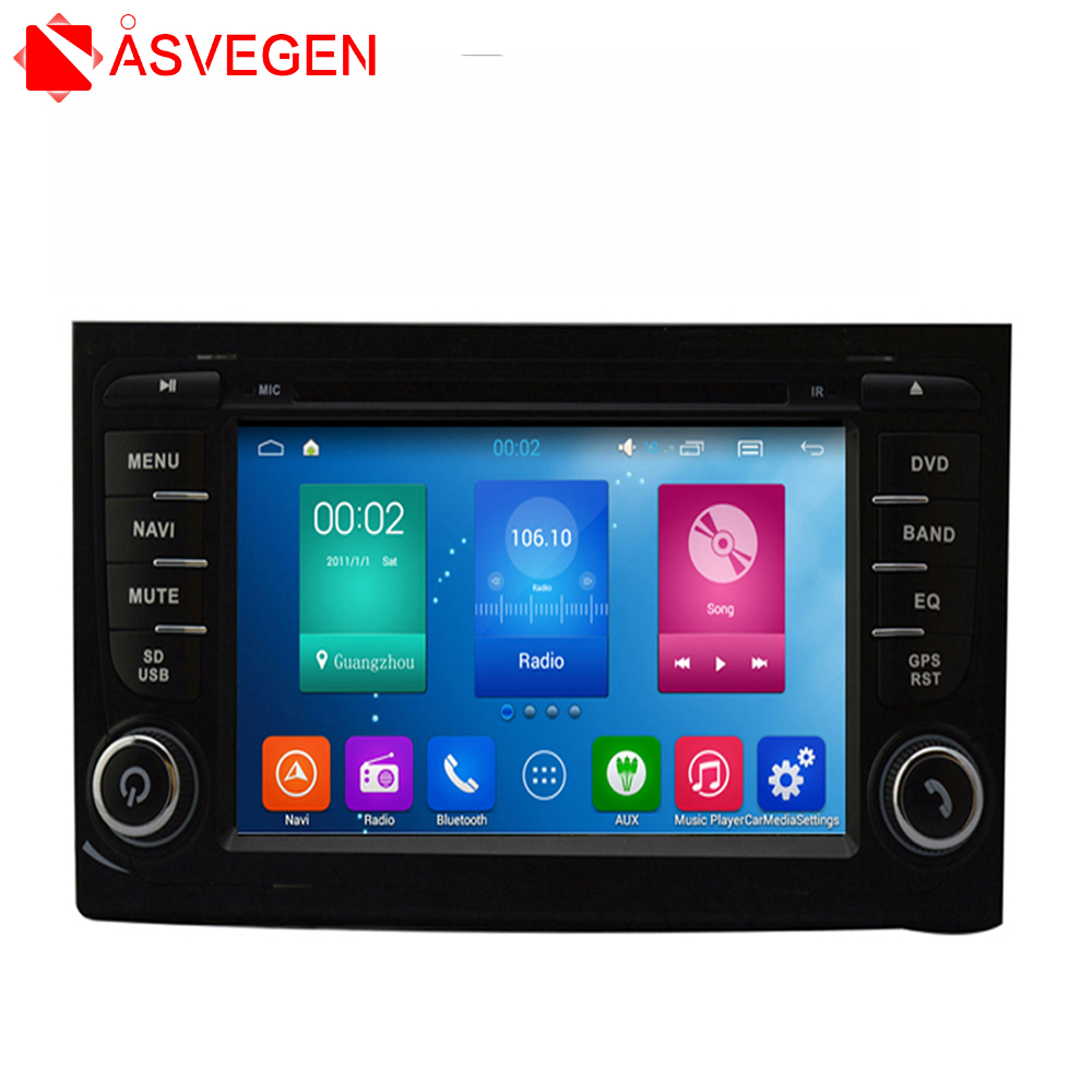 For 7'' Audi A4 car dvd GPS navigation Android 6.0 multimedia