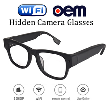 Live streaming CMOS sensor wireless Wifi camera spy gear video glasses full hd