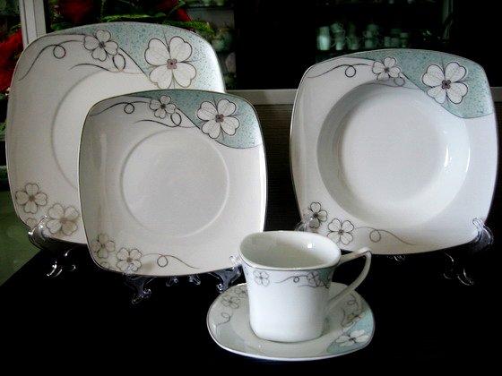 porcelana forma cuadrada vajilla