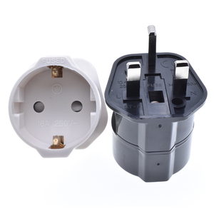 Wholesale EU 2 pins to UK plug adapter UK England conversion plug with 13A fused BS power plug travel universal socket