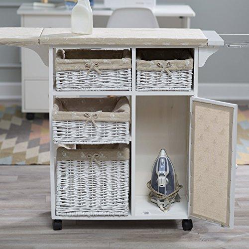 โต๊ะไม้แคบอิตาลีโต๊ะรีดผ้าแบบลิ้นชักอเนกประสงค์