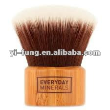 large dome shaped eco friendly bamboo kabuki brush, Luxury and Elegance, with Vegan Hair, Environment-friendly