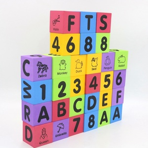 2018 Factory 30 pcs soft Alphabet and Numbers kids eva foam building blocks