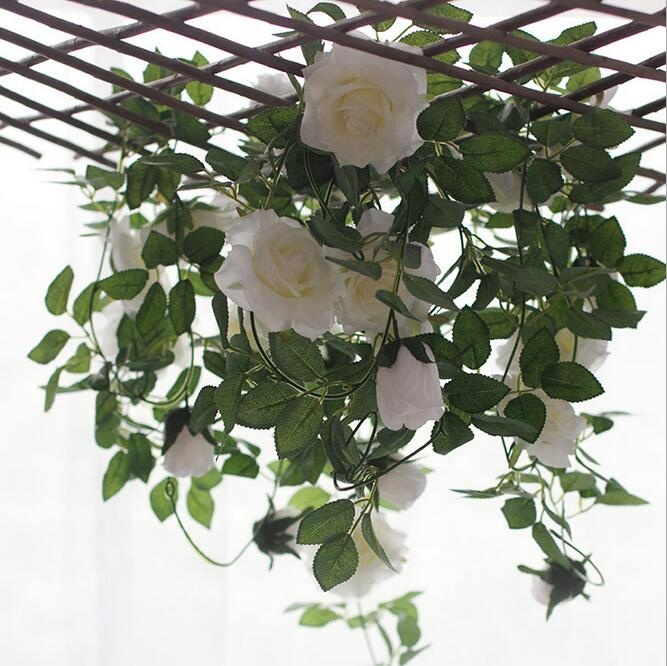 Iflower wholesale decoration artificial plastic rose flower garland