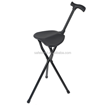 Superbe Easy Use Walking Stick With Chair Seat Cane