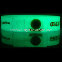 Creative OEM Glow in the dark USB Flash Drives / USB Silicone wristbands