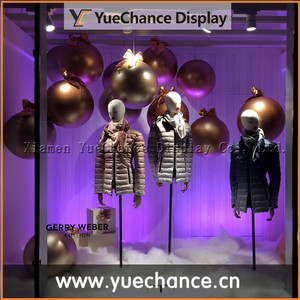 Fashion Store Hanging Display Fiberglass Balls with Bowknot
