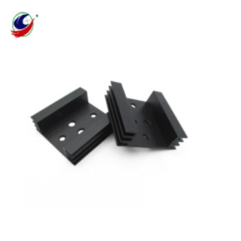 black extruded heat sink aluminum waterproof heat sink