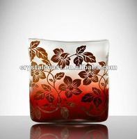 wholesale red yellow bulk buffet table murano acrylic glass vases;cylinder glass pot for flower arrangement;glass flower pot;