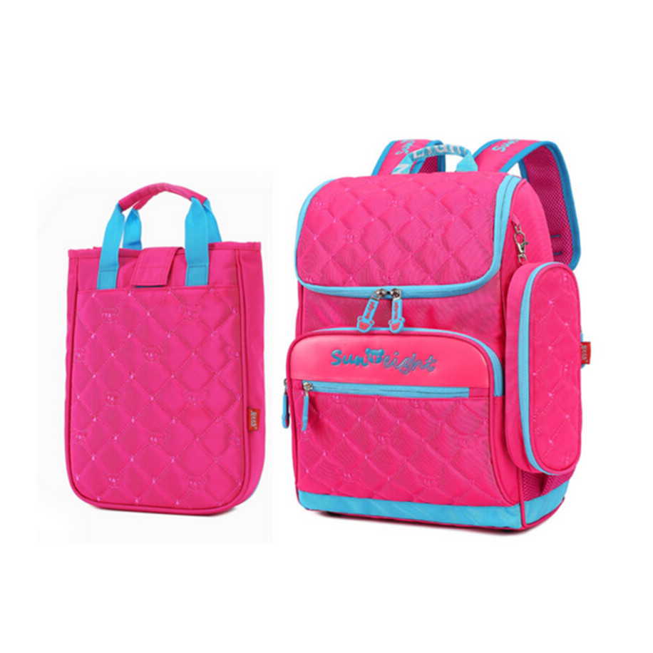 533e66223b02 girl school bag set lunch box case Korean style elementary school ...