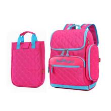 Dívčí školní taška růžové barvy + penál + taška přes rameno