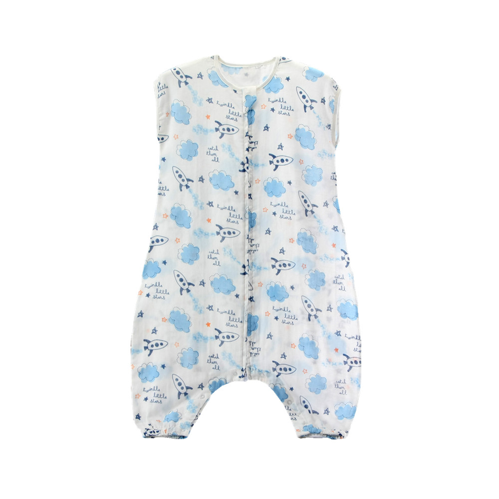 Miracle Baby 100% Cotton Muslin Sleeveless Coveralls Summer Sleeping Bag With Feet 0.5 Tog with Snap for Big Kids фото