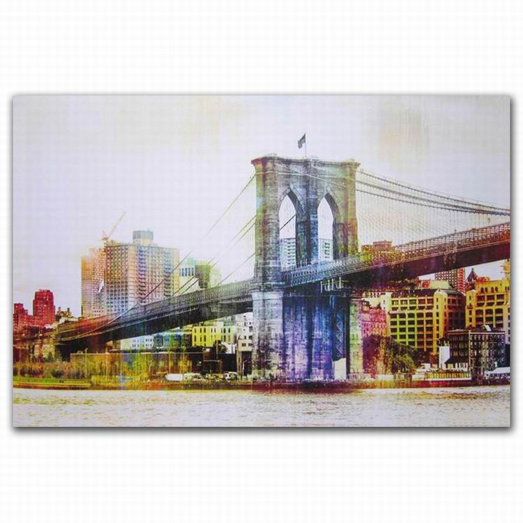 Abstract Backlit Lighted City Bridge Building Art Framed Led Canvas Wall  Art Picture - Buy Backlit Lighted Art Framed Led Wall Art Picture,Lighted  Art