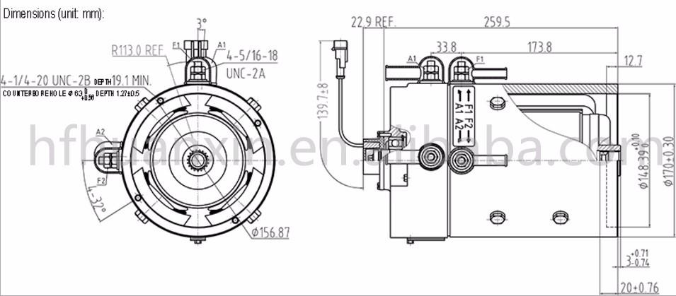 wholesale brush dc electric motor 48v 3 8kw dc motor zqs48