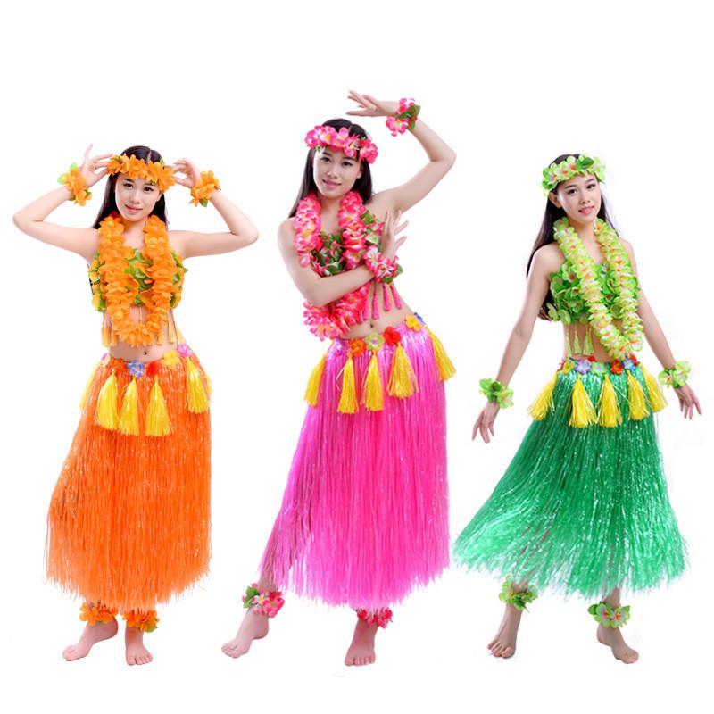 AM/_ 4PCS HULA HAWAIIAN FLOWER NECKLACE GARLAND FANCY PARTY LEI DRESS UP HEADBAND