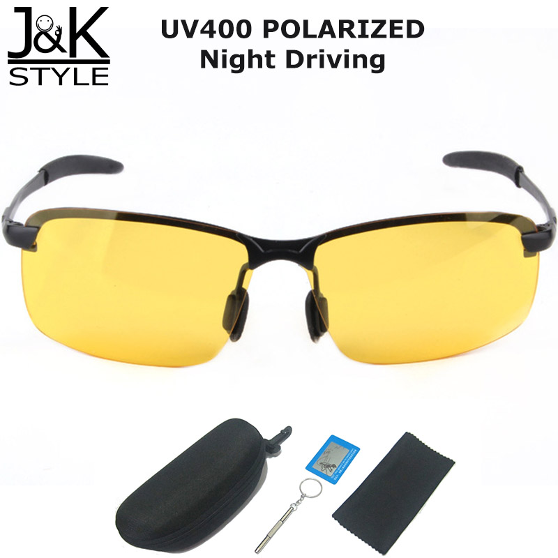 956a68bed6e7 Night Vision Anti Glare Yellow Lens Sunglasses