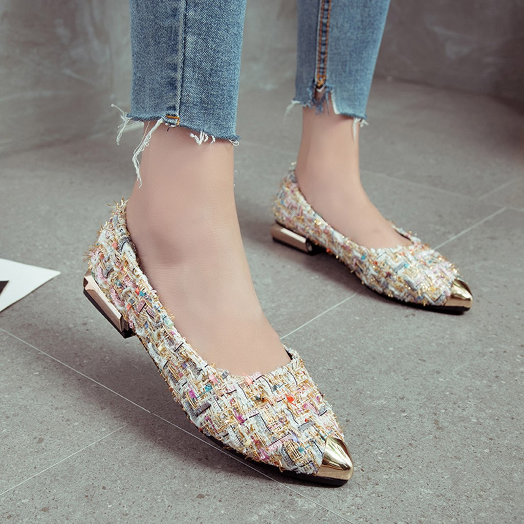 642c07db4c4 Detail Feedback Questions about shoes women heels Fashion Ladies Metal  Mixed Color Shallow Single Pointed ToeShoes  XTN on Aliexpress.com
