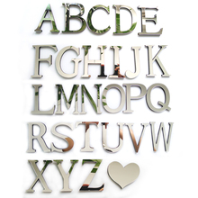 2016 new acrylic font b sticker b font love characters letters home decoration english 3d mirror