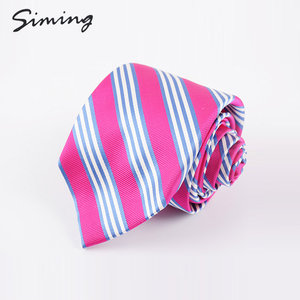 Good quality factory direct silk modern woven striped silk ties neck for men