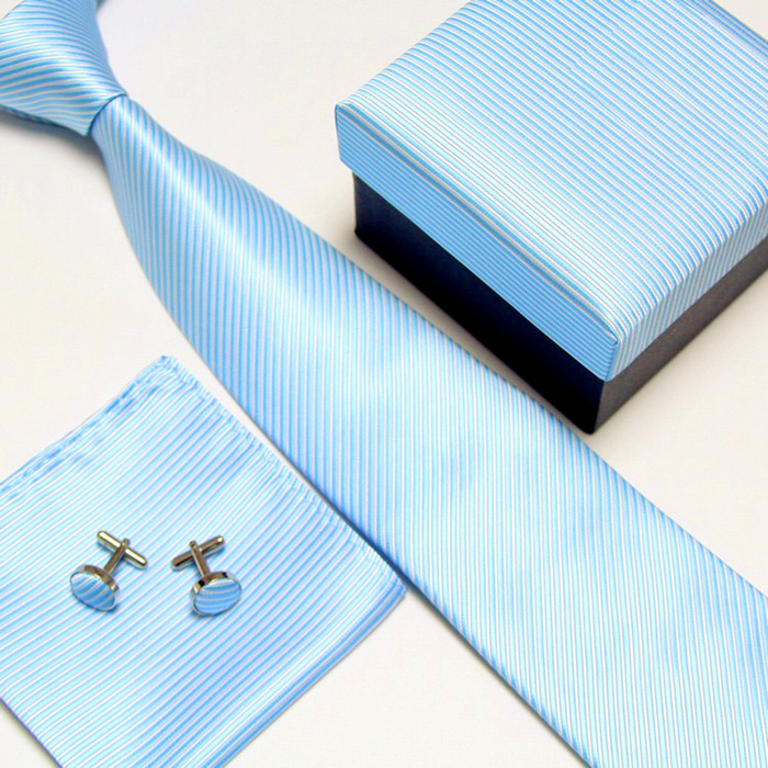 Random design fashion cheap <strong>tie</strong> with matching cufflinks in giftbox