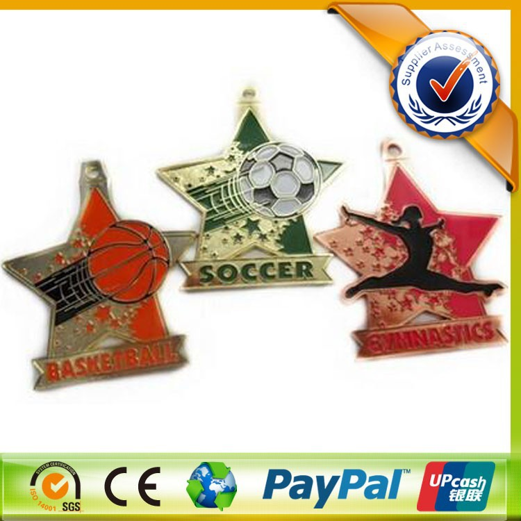 Customized Star Shaped Souvenir Sports Award Medals