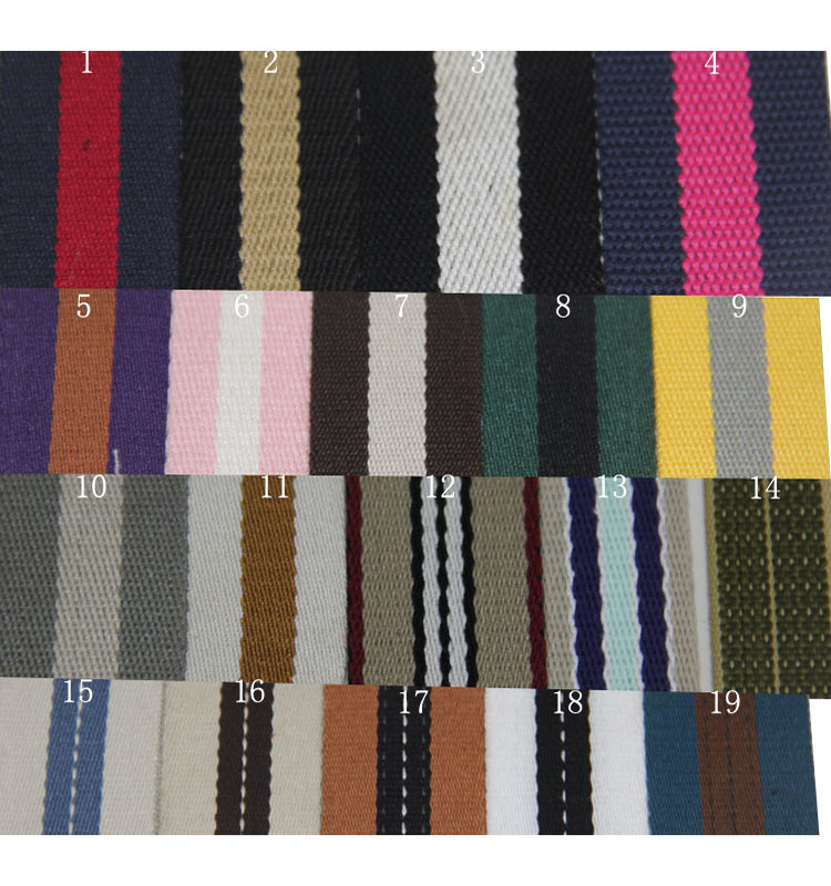 Factory Price Strap Cheap Belt china supplier ribbon inter colour cotton webbing 1.5 inch 2mm thickness
