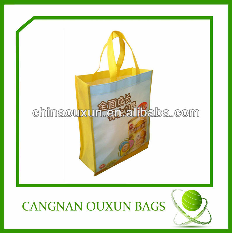Reusable waterproof pp woven grocery shopping bags