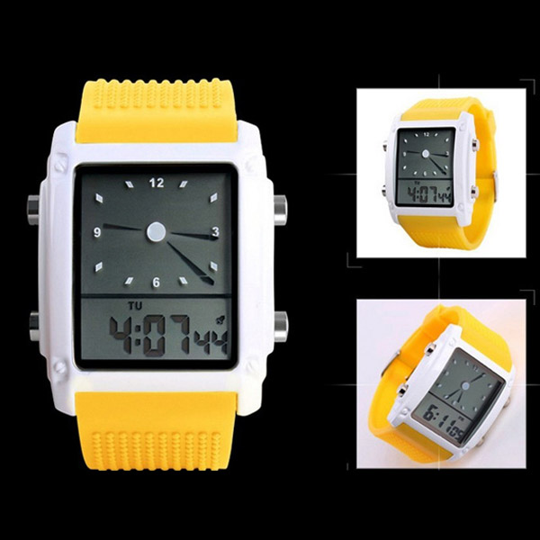 Fashional led sport men's men electronic silicone sport watches