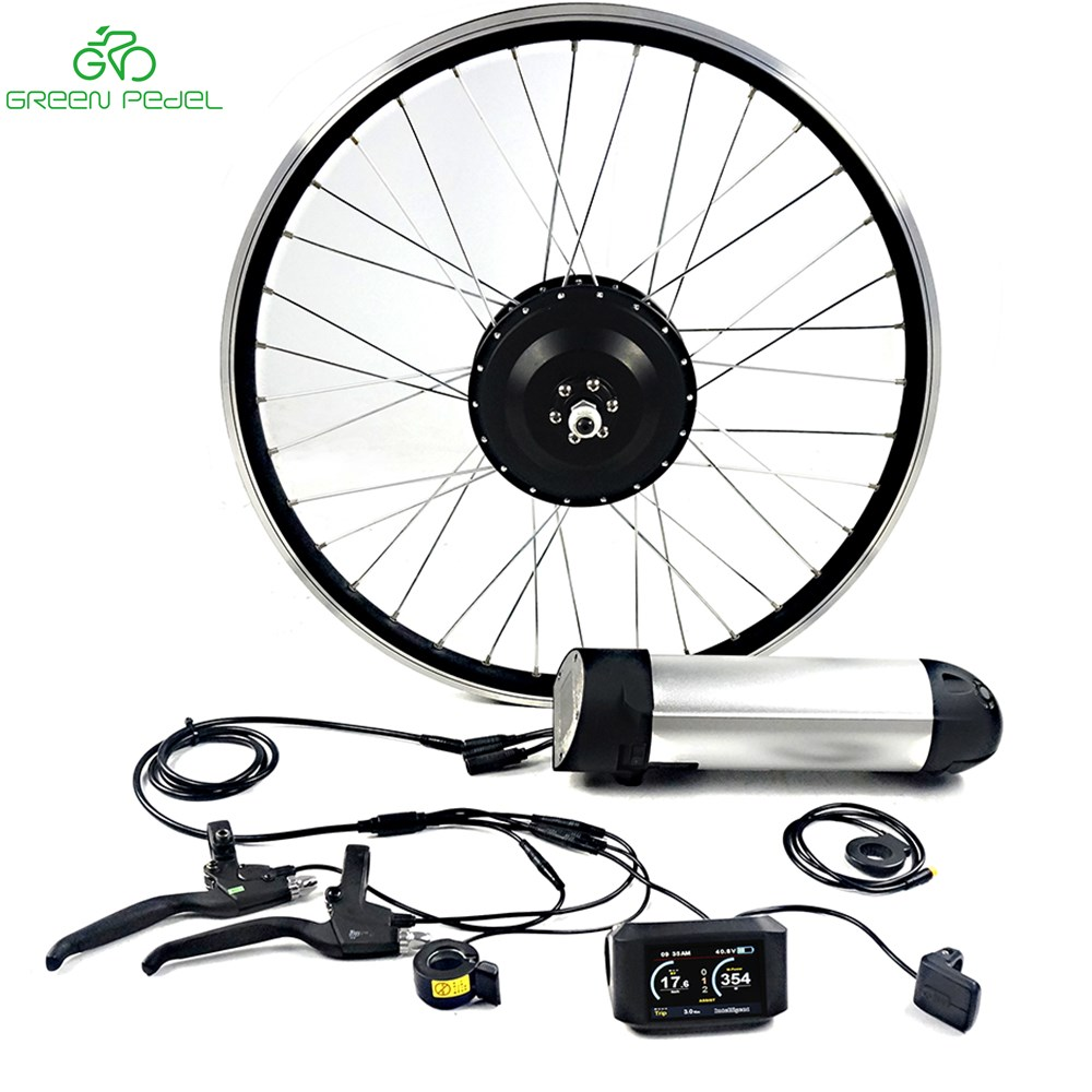 Greenpedel M58 36V/48V 500W gear hub motor electric bicycle conversion kit with Rack Lithium Battery