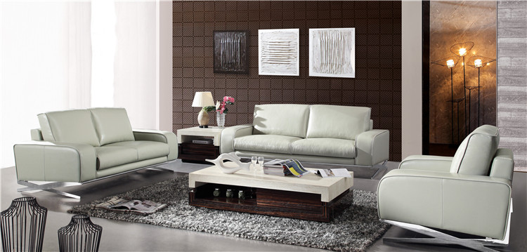 Foshan Furniture Steel Frame Leather Trend European Sectional Sofa