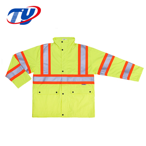 Yellow High Visibility Reflective Safety Jacket