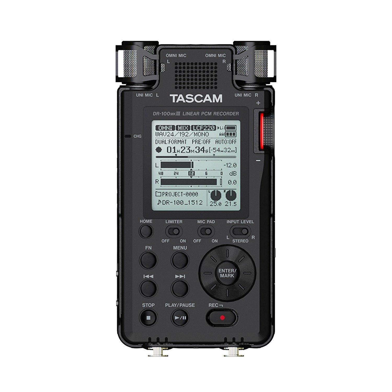 Tascam DR-100MKIII   Handheld Stereo Portable Digital Recorder
