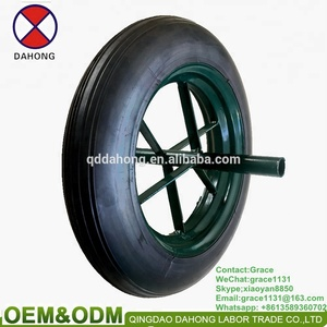 factory wholesale price 13*3 prevent puncture Solid rubber wheel for wheelbarrow wheel Construction site, the mining area wheel