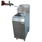 Stainless Steel Commercial Potato Chips Chicken Propane Gas Deep Fat Fryer With Cabinet Single Tanks