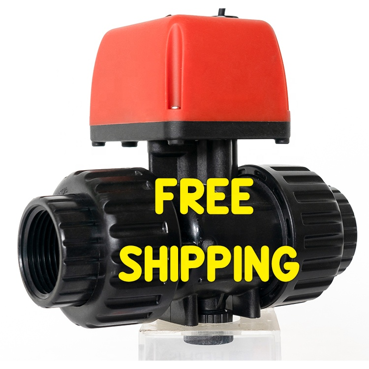 Shipping Free DN15-25 DC/AC 2 way Electric Valve Auto Automatic Ball Control Motor Drive Motorized Actuator Operated Ball Valve