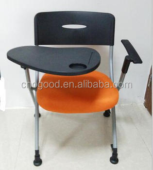 Office Training Fabric Chair With Plastic Writing Table Pad Buy - Table pad fabric
