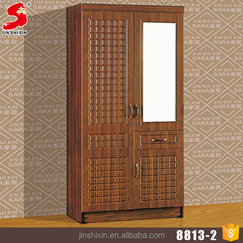 Foshan clothes storage furniture easily assemble MDF modular bedroom wardrobe