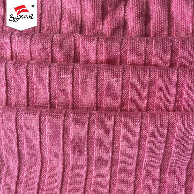10 Years experience printed 9*4 rayon spandex knit ribs fabric for garment