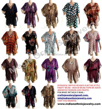 05c0c61ed0909 Wholesale Chiffon Kaftan ponchos,Chiffon Ponchos Top tunic, chiffon beaded  kaftan,beach wear
