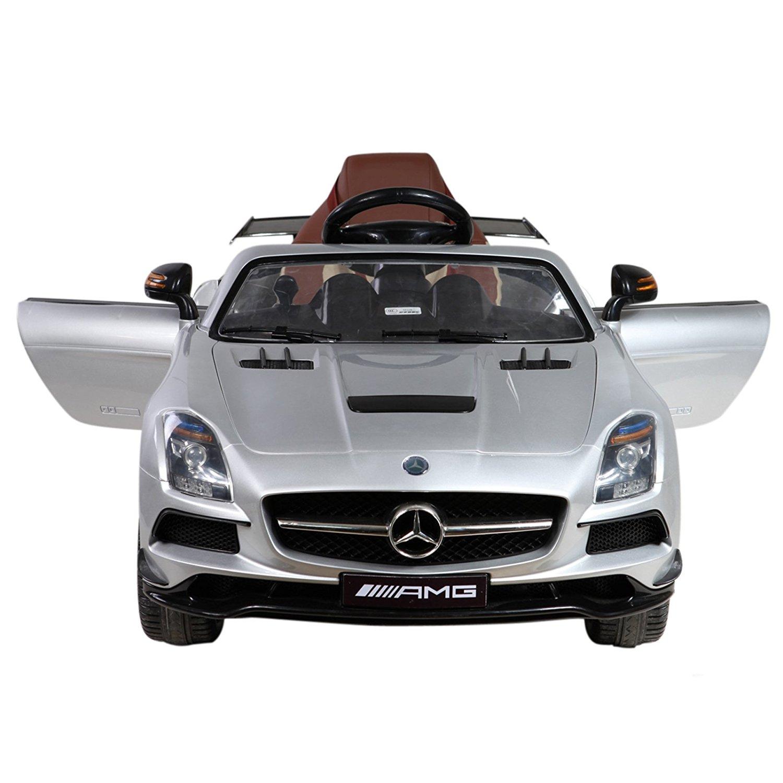 Licensed Mercedes Benz SLS AMG 12V Kids Battery Powered Ride On Car - Silver