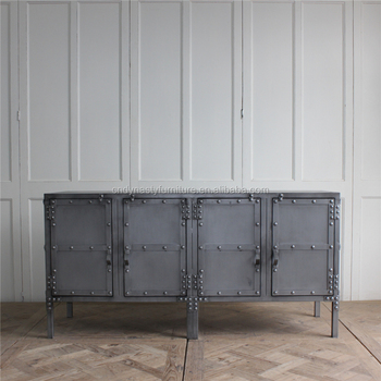 Vintage Style Industrial Metal Iron Sideboard Furniture Buy