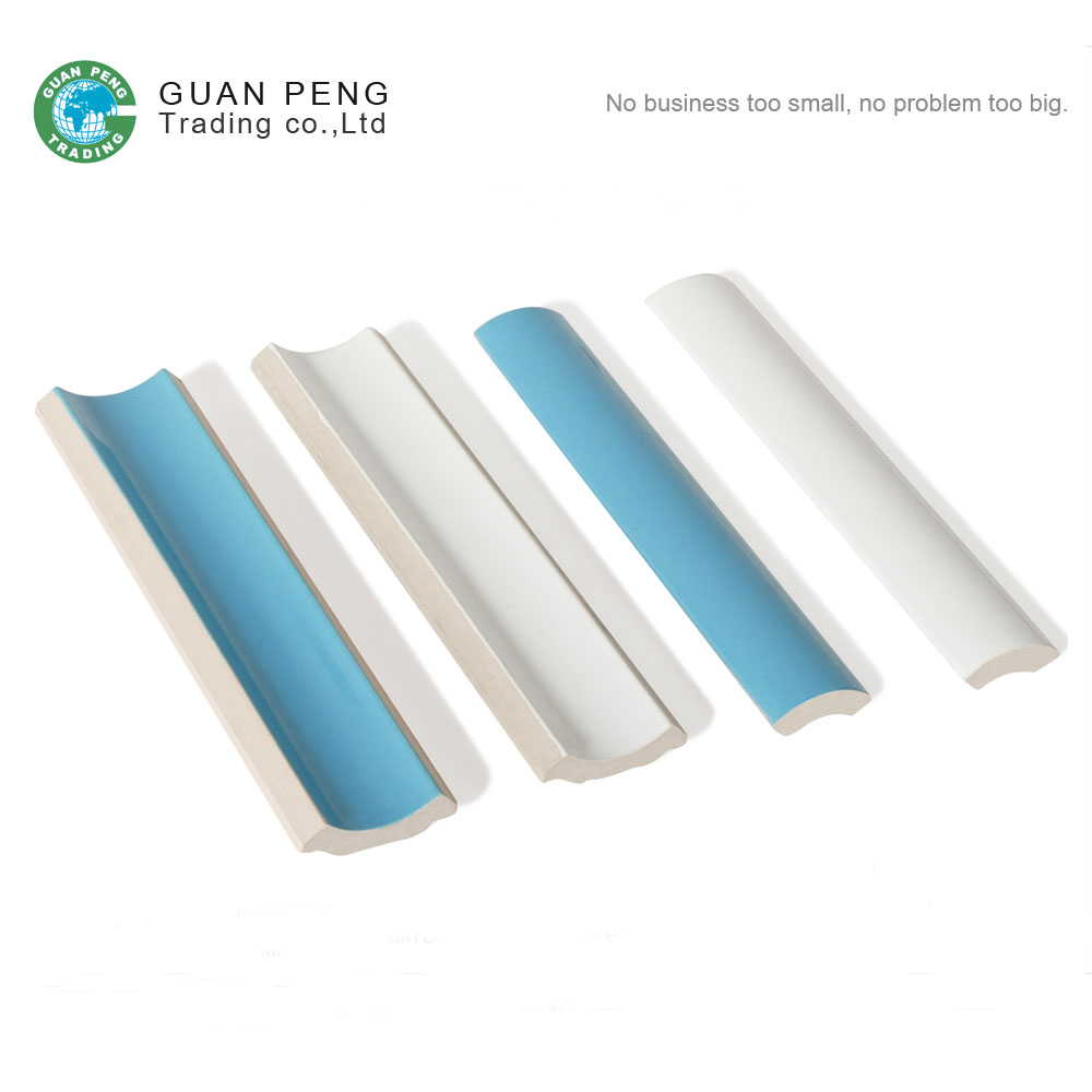 White And Bule Swimming Pool Curved Ceramic Tiles Not Expensive
