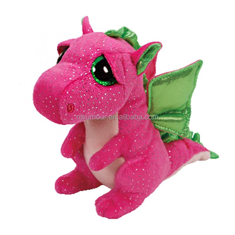 Plush Toy Big Eye Stuffed Toy Pink Dinosaur Lovely Cute Baby Toy