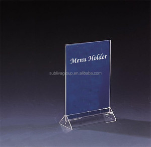 A5 Acrylic Sign Holder, A5 Size Acrylic Table Top Menu Holder