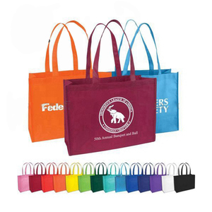 Screen printing promotional customized color non-woven shopping bags